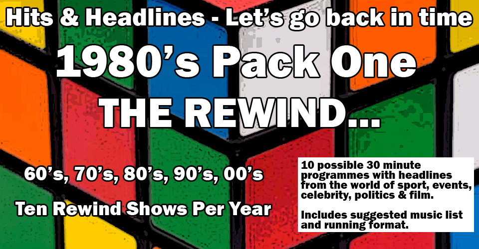 Let's Go back in Time with the rewind 1980's
