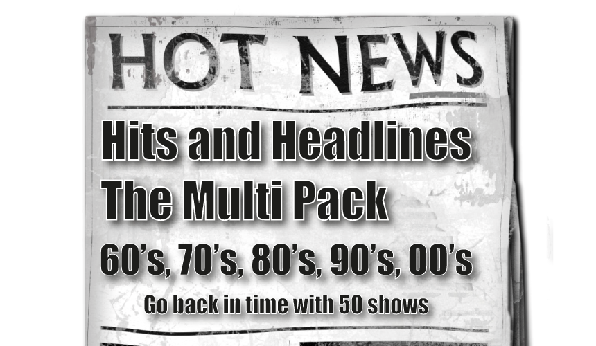 Hits and Headlines Multi-pack. Get 5 programmes in a single pack.